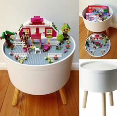 Families! A stylish way to store and hide - er display, all your child's Lego creations.