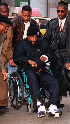 Tupac after getting shot in 94