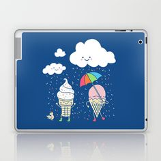 Cloudy With A Chance of Sprinkles Laptop & iPad Skin by Monica Gifford - $25.00