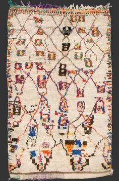 TM 2102, pile rug from the Azilal region, central High Atlas, Morocco, 1990s, 230 x 140 cm (7' 6'' x 4' 8''), high resolution image + price on request