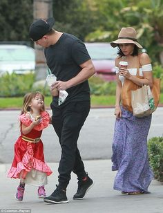 Family day: Channing Tatum and Jenna Dewan cast aside their busy schedules and enjoyed some bonding time with their three-year-old daughter, Everly, recently in Los Angeles