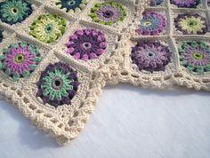organic cotton crochet blanket by BabanCat on Etsy, £250.00