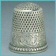 Beautiful sterling silver antique thimble