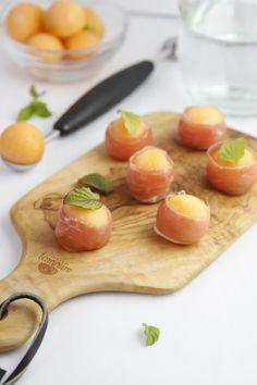 Prosciutto Wrapped Melon Balls   www.bellalimento.com