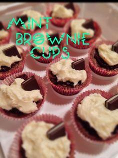 Mint Brownie Cups via CheersLoveChels