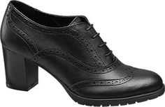 Graceland Lace-up Heeled Brogues   Deichmann