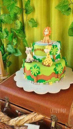 Animalitos de la jungla Birthday Party Ideas | Photo 1 of 11 Jungle Birthday Cakes, Animal Birthday Cakes, Lion Birthday, Jungle Cake, Animal Cakes, Jungle Party, Safari Party, Rodjendanske Torte, Safari Cakes