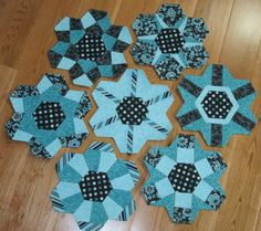 "I made these hexies are from Mickey Depre's book ""Pieced Hexies - A New Tradition in English Paper Piecing"".  So cute!!"