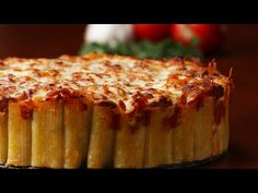 Cheesy Rigatoni Pie - YouTube