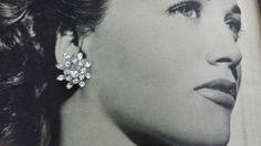 Vintage 1950's Snowflake Rhinestone and Silver by VintageGoodsToGo