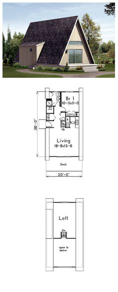 House Plan 85944 | Total living area: 720 sq ft, 1 bedroom & 3/4 bathroom.