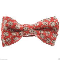 FLATSEVEN Herren Pre-Tied Flower Gedruckt Krawatte Fliege Bow Tie (YB017)