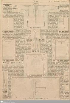 1868 Der Bazar, pattern for a man's nightshirt.
