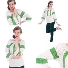 #Vintage #Unicat #romanianblouse Unique Vintage, Blouses, Traditional, Tops, Women, Fashion, Moda, Fashion Styles, Blouse