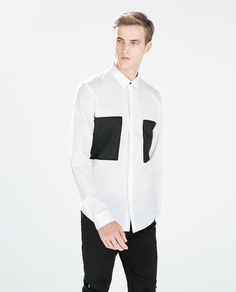 ZARA - MAN - SHIRT WITH SQUARE PATCHES