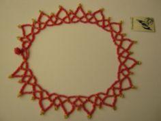 collar chaquira, mostacillas, beads, rojo