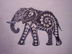 Elefant - tatuering.
