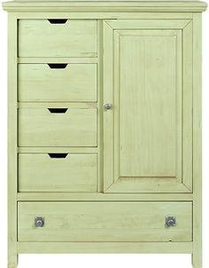 #wardrobe #closet #armoire #drawers #dresser Summer Grove Green Gentlemans Chest