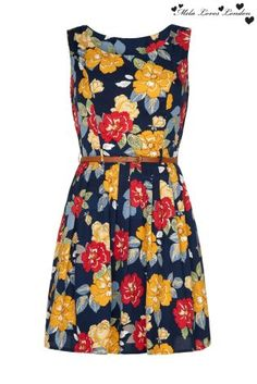 Buy Mela Loves London Pleated Floral Dress from the Next UK online shop