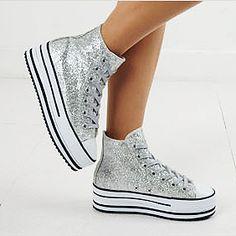 Womens Shiny Sneakers Platform Wedge Sneakers US 6~8 | eBay ($20-50) - Svpply