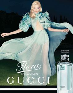 Abbey Lee Kershaw in Gucci's Flora Fragrance Campaign by Sølve Sundsbø