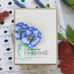 #nolinecoloring #unitystampco #juhishandmadecards Handmade Cards, Projects, Blue, Painting, Craft Cards, Log Projects, Blue Prints, Painting Art, Paintings