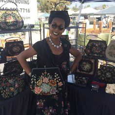 Come visit Bliss @heavenlyhandbags at the Rose Bowl Flea Market. | #advancedstyle