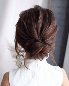 42 Gorgeous Wedding Hairstyles—Prom Hairstyles For Long Hair, elegant updo wedding hairstyles for short hair or medium length hair Prom Hairstyles For Long Hair, Easy Hairstyles, Trending Hairstyles, Hairstyle Ideas, Gorgeous Hairstyles, Formal Hairstyles, Hair Ideas, Hair Updos For Medium Hair, Bridesmaid Updo Hairstyles