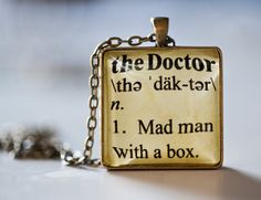 Doctor Who Inspired Pendant Necklace Dictionary by kaieldesigns, $13.95