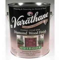 Varathane Outdoor Non Yellowing Clear Varathane Exterior Spar Urethane Diamond Wood Finish