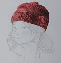 Bonnet aux aiguilles (point mousse) pour 4/6 ans  - une belle histoire !!!!!!!!!!!! j'ai hâte de le tricoter ! - Cleonis