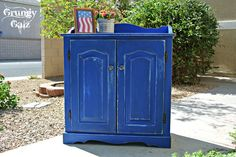 BLUE-tiful cabinet by Grungy Galz
