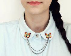● Mariposa collar pins ● von roses & ruins auf DaWanda.com