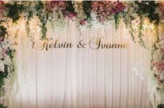 Ideas For Wedding Outdoor Ceremony Decorations Photo Backdrops Wedding Reception Lighting, Wedding Stage Decorations, Engagement Decorations, Backdrop Decorations, Outdoor Wedding Venues, Wedding Centerpieces, Outdoor Ceremony, Deco Floral, Wedding Background