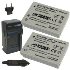Wasabi Power Battery (2-Pack) and Charger for Canon NB-5L and Canon PowerShot S100, S110, SD700 IS, SD790 IS, SD800 IS, SD850 IS, SD870 IS, SD880 IS, SD890 IS, SD900 IS, SD950 IS, SD970 IS, SD990 IS, SX200 IS, SX210 IS, SX220 IS, SX230 HS by Wasabi Power. $19.99. The Wasabi Power NB5L battery and charger kit includes 2 batteries and one charger with a European plug and car adapter. All items meet or exceed OEM standards and come with a 3-year manufacturer warranty.    ...