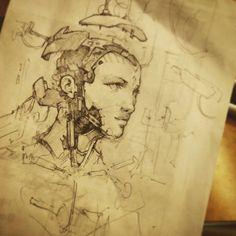 Train doodle by AaronGriffinArt