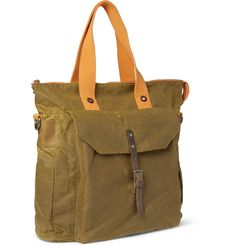 Ally Capellino Timothy Waxed-Cotton Tote Bag | MR PORTER