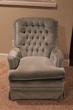 How to Reupholster a Swivel Rocker Chair | Gluesticks