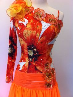 tango dance  dress red tang dress ballroom by DesignByNatasha, $699.00-->Holy price tag batman! touch busy, but beautiful design