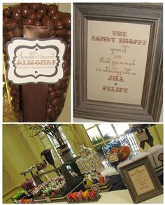 Rustic Candy and Dessert Table: Wedding