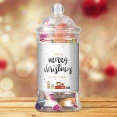Christmas Presents Personalised Victorian Sweet Jar