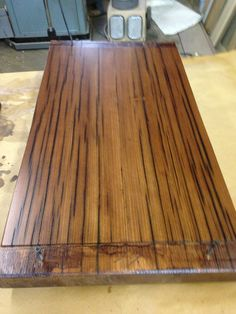 Detail of reclaimed and refinished wood from former industrial factory