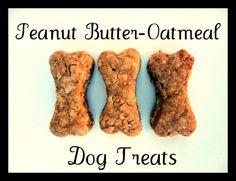 peanut butter-oatmeal doggy treats