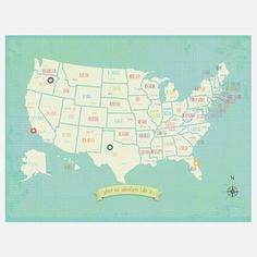 My Travels USA Print now featured on Fab. - Mia would love this one.
