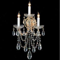 Crystorama Maria Theresa 3 Light Wall Sconce & Reviews | $450 Wayfair