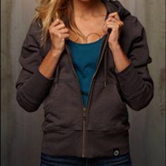 American Giant women's hoodie 100% cotton, full-zip heavyweight hoodie in phantom grey - like-new condition American Giant Tops Sweatshirts & Hoodies