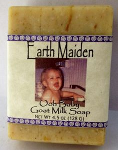 Ooh Baby Castile Soap by Earth Maiden is gentle enough for babies and fragile, sensitive skin. Our choice and fragrance free,