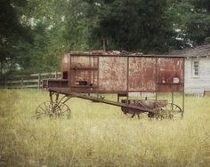 Vintage Farm Equipment Photograph Country by AmericanaArtByEllis, $25.00