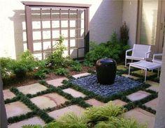 Small Front Yard Courtyards | small courtyard garden ideas various of courtyard garden design small ...