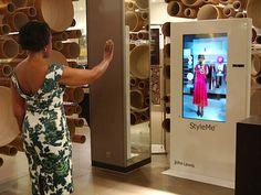 A Cisco vem testando o provador virtual StyleMe em lojas de roupas como a John Lewis, em Londres